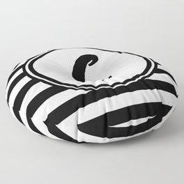C Striped Monogram Letter Floor Pillow