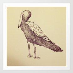Miss Stork Art Print