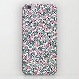 Ditsy Flora Green and Rose iPhone Skin