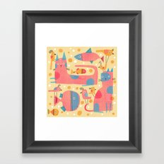 ALL-OVER WITH BUBBLES Framed Art Print