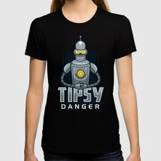 Tipsy Danger Womens Fitted Tee Black SMALL