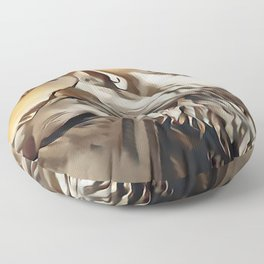 Spirit Of The Wolf Floor Pillow