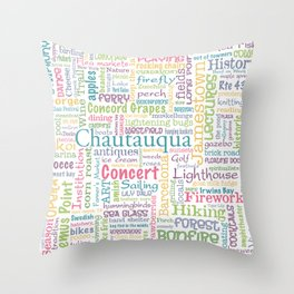 Chautauqua Summer Dream Throw Pillow