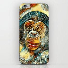 AnimalArt_Chimpanzee_20170602_by_JAMColorsSpecial iPhone Skin