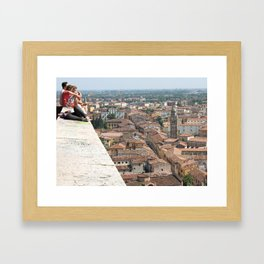 Unknown Faces In Different Places (Pt 4 - Verona, Italy) Framed Art Print