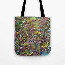 Evie's Garden Paisley Tote Bag