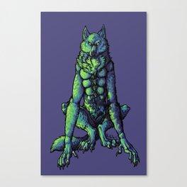Blue Werewolf Canvas Print