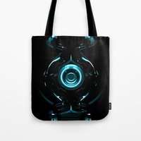 tron Tote Bags featuring Tron  by Electra