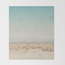 in the middle of the desert ... Throw Blanket