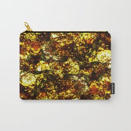 Solid Gold - Abstract, metallic gold textured pattern Carry-All Pouch