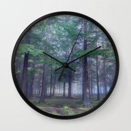 Forest in North Kessock, The Highlands, Scotland Wall Clock