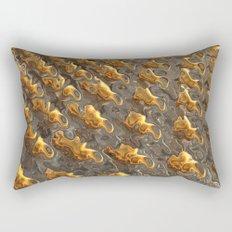 Abstract Melting Metal  Rectangular Pillow