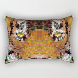 Tiger Triangle Mandala Rectangular Pillow