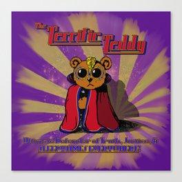 The Terrific Teddy- Ultimate Defender of Sleepytime Canvas Print