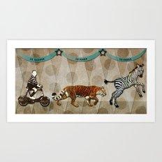 Circus Parade Art Print