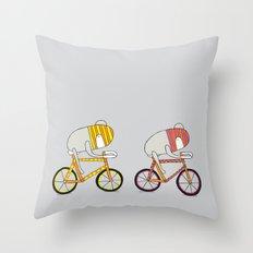 Ride more bikes Throw Pillow