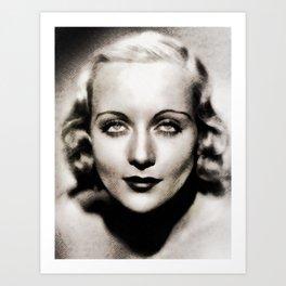Carole Lombard, Hollywood Legend Art Print