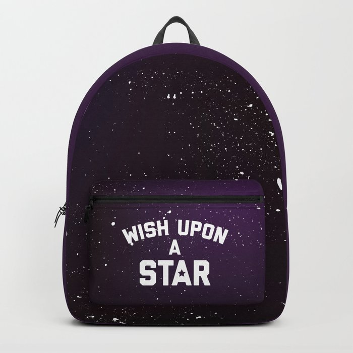 Wish Upon Star Quote Backpack