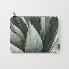 Cactus Leaves // Green Southwest Home Decor Vibes Desert Hombre Plant Photograph Carry-All Pouch