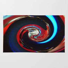 Swirling colors 04 Rug