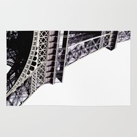 eiffel tower Area & Throw Rugs featuring Eiffel Tower by AnnaLaskin
