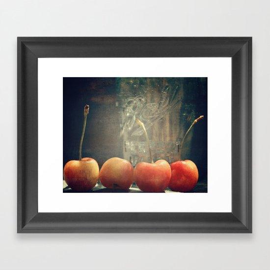 Cherry ball Framed Art Print
