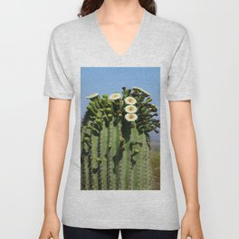 Beautiful Saguaro Blossoms Unisex V-Neck