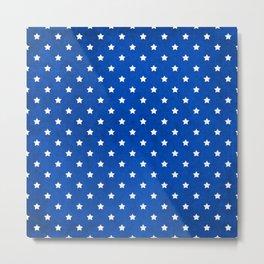 Stars On Fabric Texture Metal Print