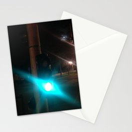 street urban green light Paris Stationery Cards