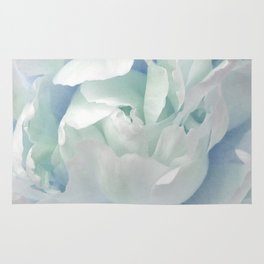 Peony in Blue White Rug