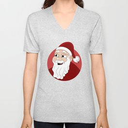 Santa Claus cartoon Unisex V-Neck