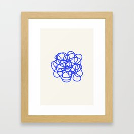 Scribble Framed Art Print
