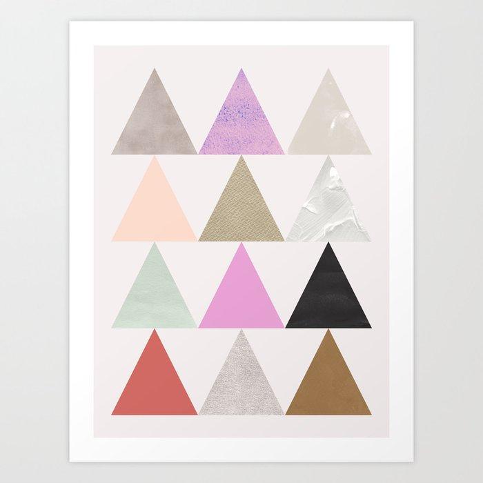 colour + pattern 25 Art Print