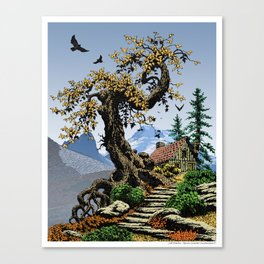 BLUE RIDGE OAK AND KOMA KULSHAN Canvas Print