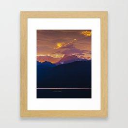 Sunrise - Glacier National Park Framed Art Print