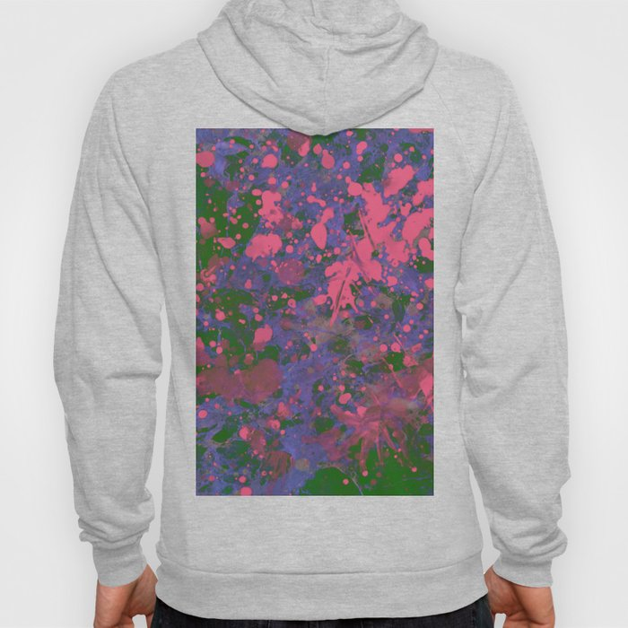 Emotional Pink - Abstract splatter painting Hoody