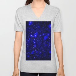 Dark Matter Galaxy Blue Unisex V-Neck
