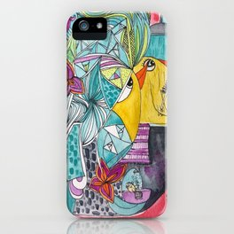 Birdy  bath shower time iPhone Case