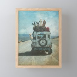 ALPACA WANDERLUST II SUMMER EDITION Framed Mini Art Print