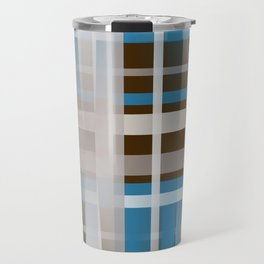 Chocolate Dipped Graphic Plaid Travel Mug