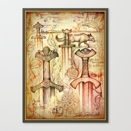 Szőtt tánc a Föld és az Ég Canvas Print