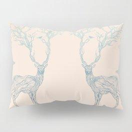 Blue Deer Pillow Sham