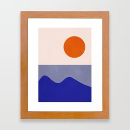 abstract minimal 50 Framed Art Print