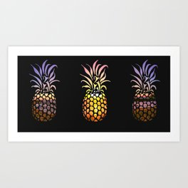 Ocean pineapple Sunset Art Print