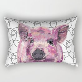 Precious Pig Rectangular Pillow
