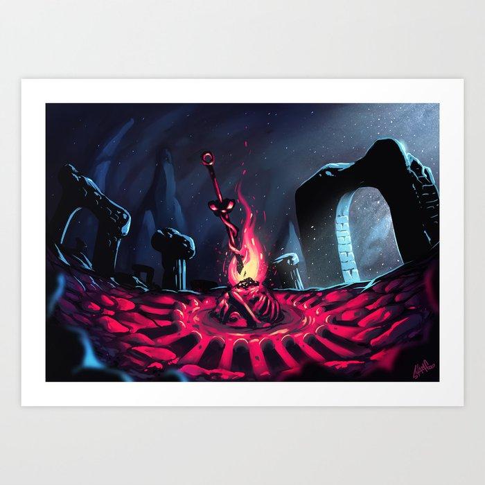 Dark Souls 3 - Bonfire Art Print