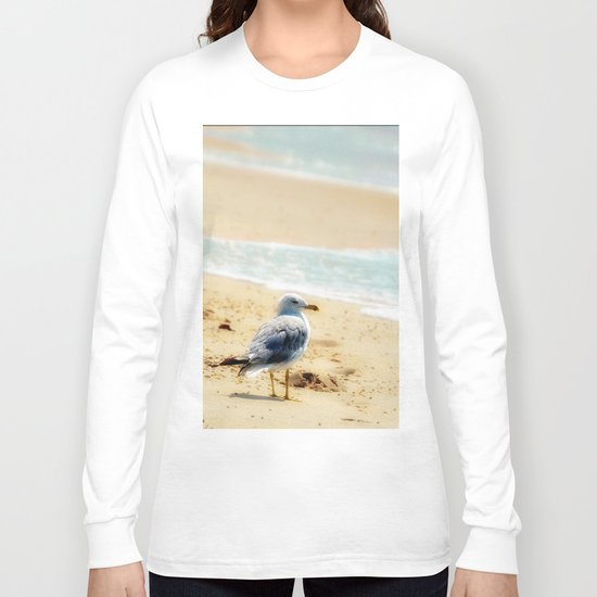 Lonely gull of summer. Long Sleeve T-shirt