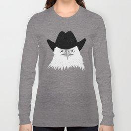 Eagle Cowboy Hipster Long Sleeve T-shirt