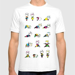 Yoga Bear - 80's Remix T-shirt