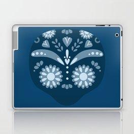 Blue Sugar Skull Laptop & iPad Skin